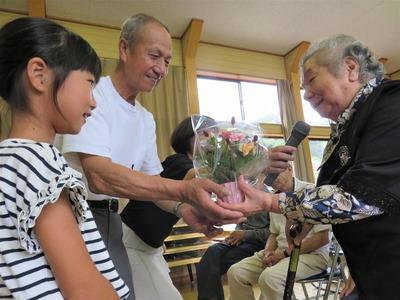 お祝いの花かご・90歳三好さん.jpg