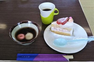 ひなケーキ・おしるこ・コーヒー.jpg