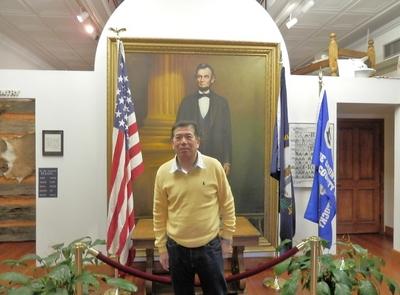 リンカーンの生誕地.JPG