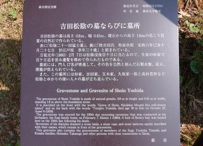 吉田松陰の墓ならびに墓所説明.jpg