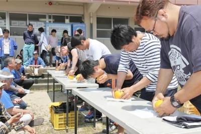 夏みかん早食い選手権1.JPG