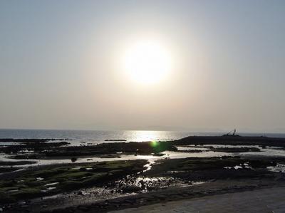 夕陽と焼野海岸.jpg