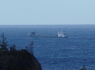 日本海の水平線と貨物船2.jpg