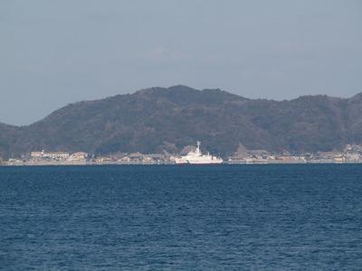 通地区と巡視船「おおみ」.jpg