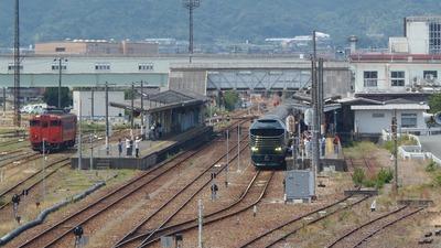 長門市駅のトワイライトエクスプレス瑞風1.jpg